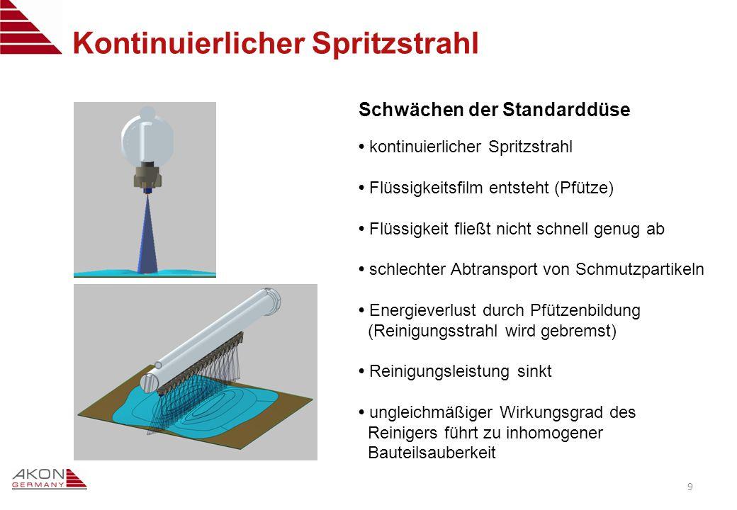 VerschmutzteOberflächeSaubere Lösung: pulsierender Spritzstrahl 10