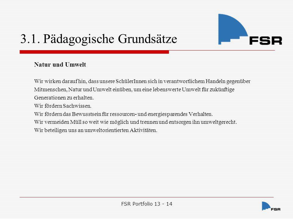 FSR Portfolio 13 - 14 3.2.