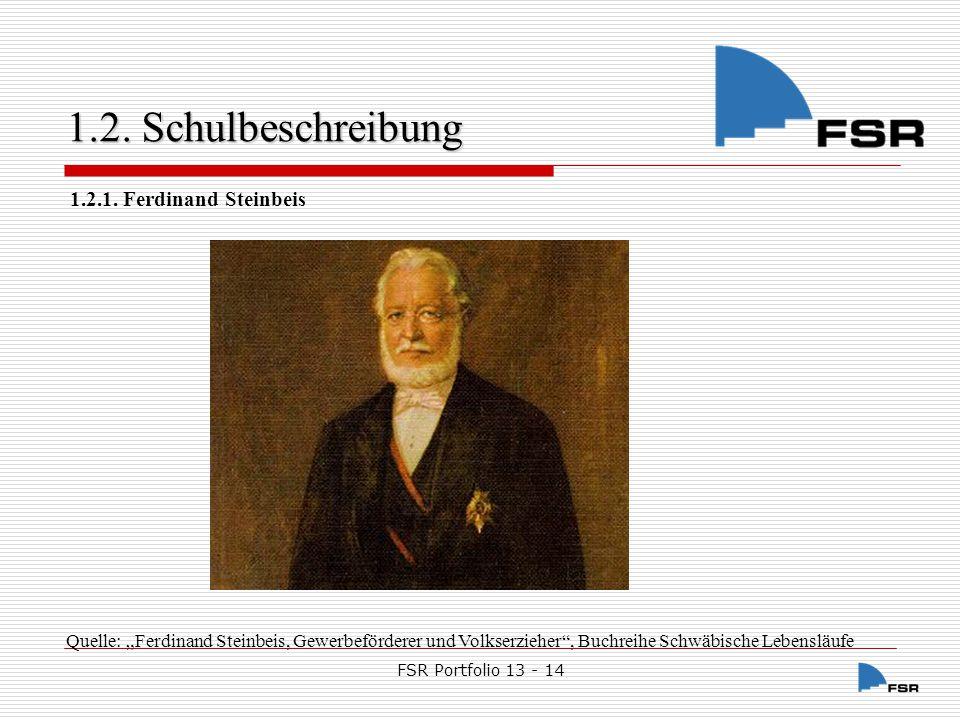 FSR Portfolio 13 - 14 1.2.Schulbeschreibung 1.2. Schulbeschreibung Am 5.