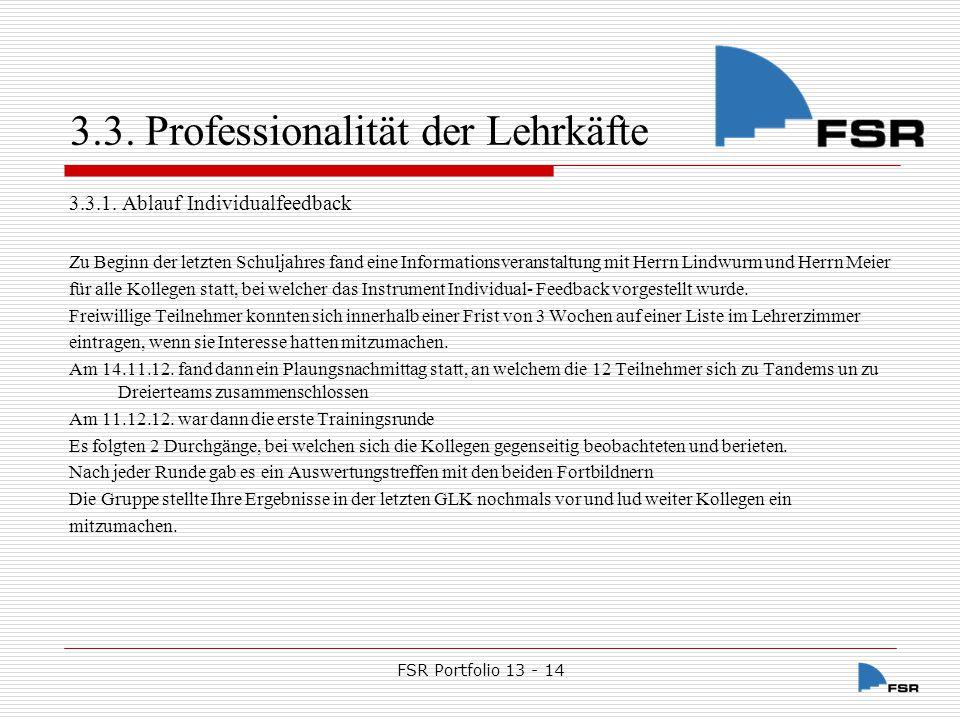 FSR Portfolio 13 - 14 4.Ergebnisse 4.1.