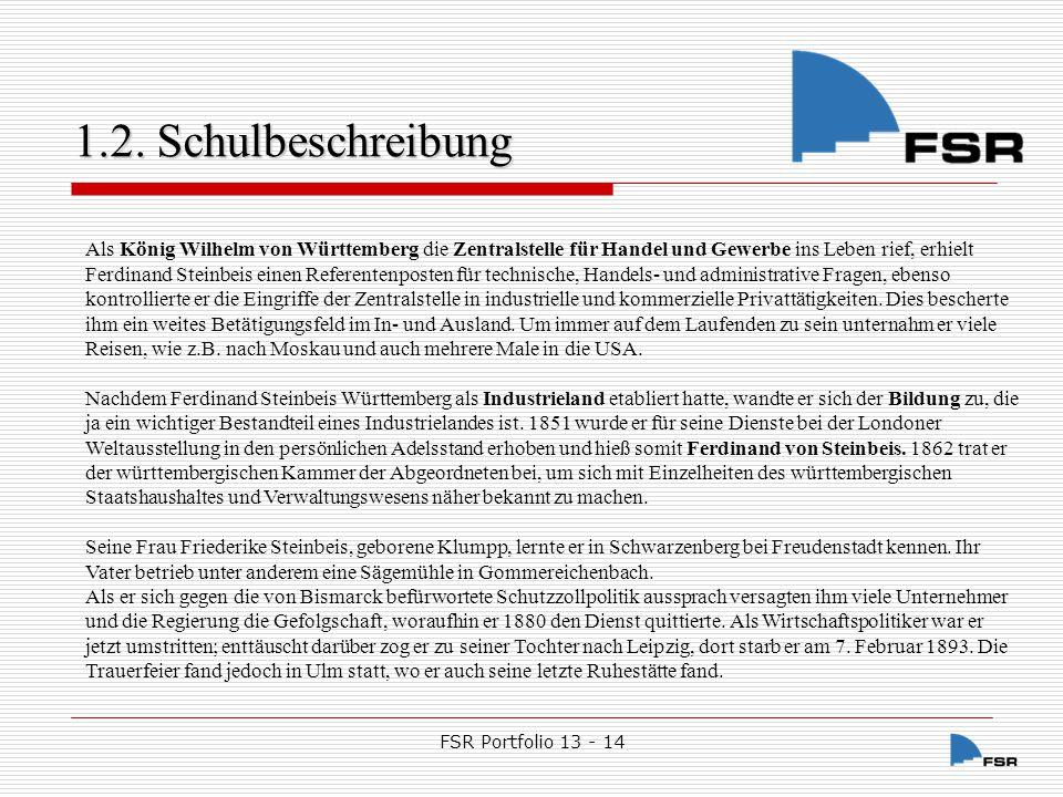 FSR Portfolio 13 - 14 1.2.Schulbeschreibung 1.2.2.