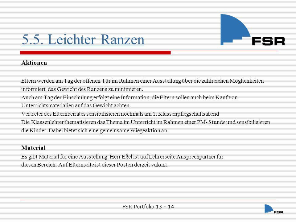 FSR Portfolio 13 - 14 5.6.Maientag Der Maientag ist für Vaihingen die 5.