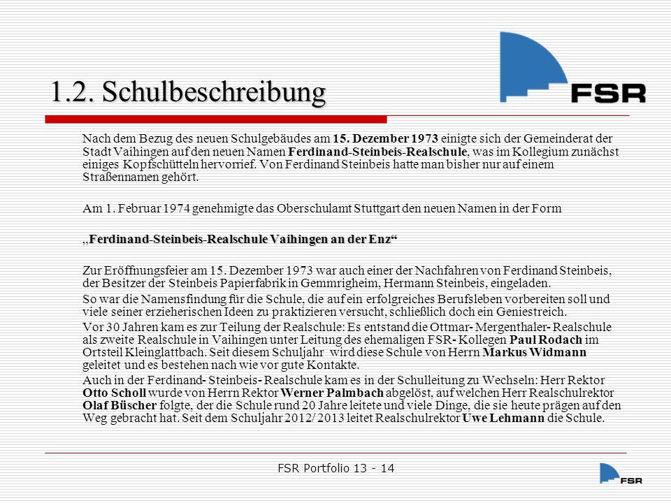 FSR Portfolio 13 - 14 1.2.