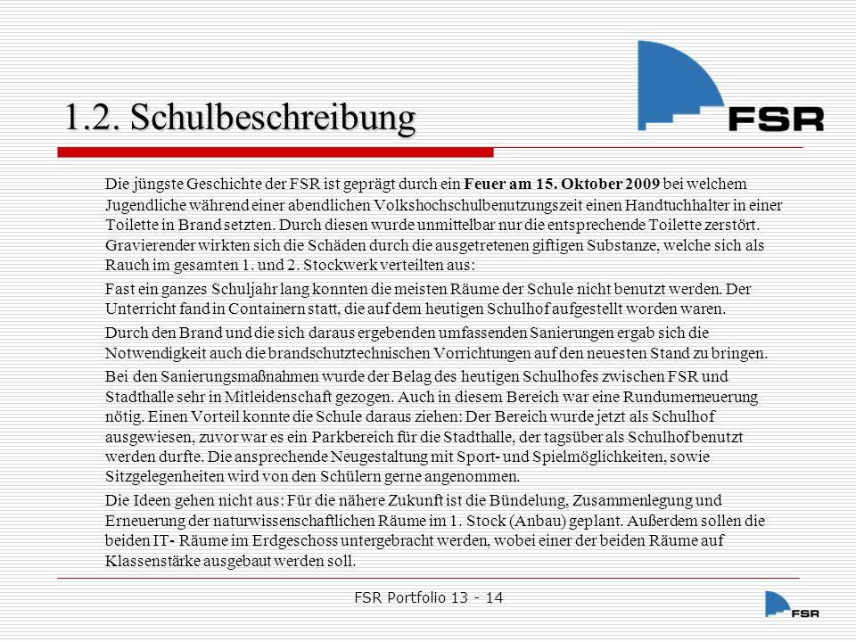 FSR Portfolio 13 - 14 1.2.Schulbeschreibung 1.2.3.