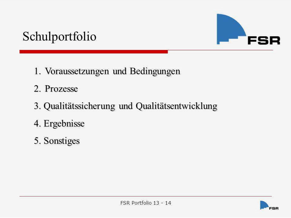 FSR Portfolio 13 - 14 1.1.Schulträger 1.1.1. Schulanlage 1.1.2.