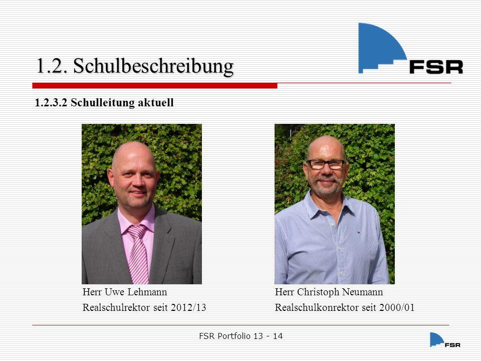 FSR Portfolio 13 - 14 1.2.Schulbeschreibung 1.2.3.3.