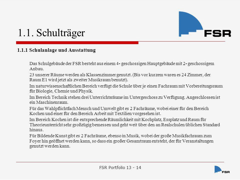 FSR Portfolio 13 - 14 1.1.