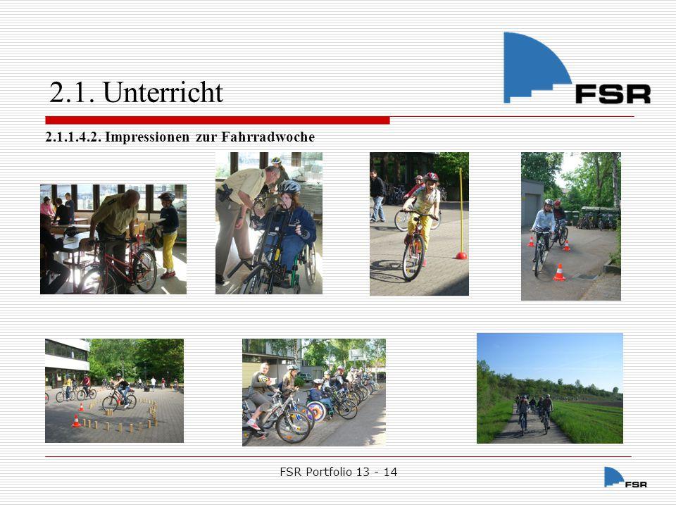 FSR Portfolio 13 - 14 2.1.Unterricht 2.1.1.4.3.