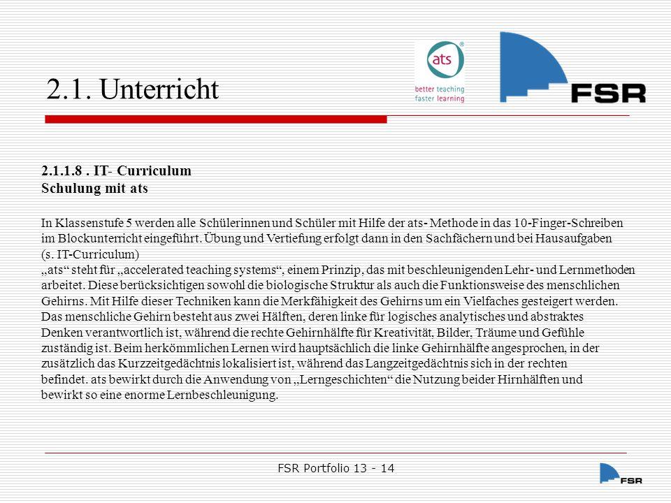 FSR Portfolio 13 - 14 2.1.
