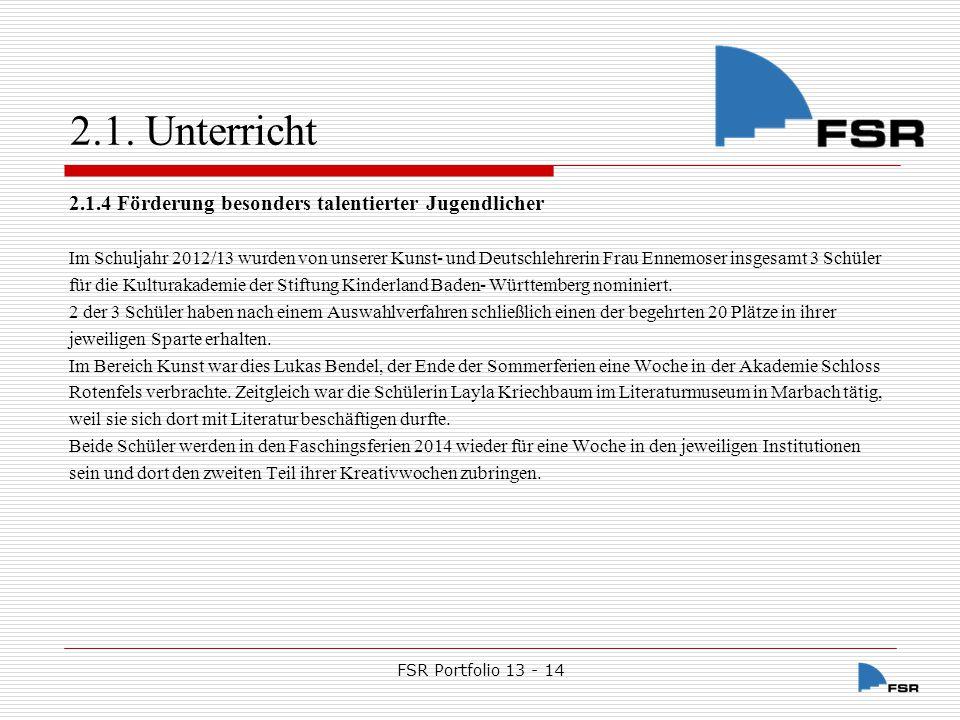 FSR Portfolio 13 - 14 2.2.