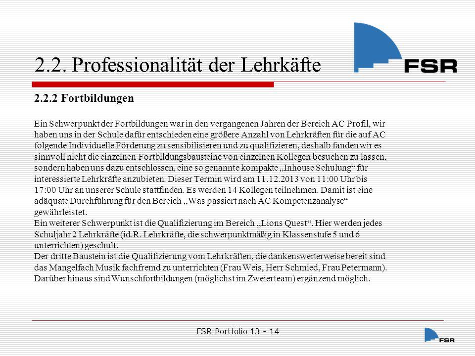 FSR Portfolio 13 - 14Nov-14 2.3.2.