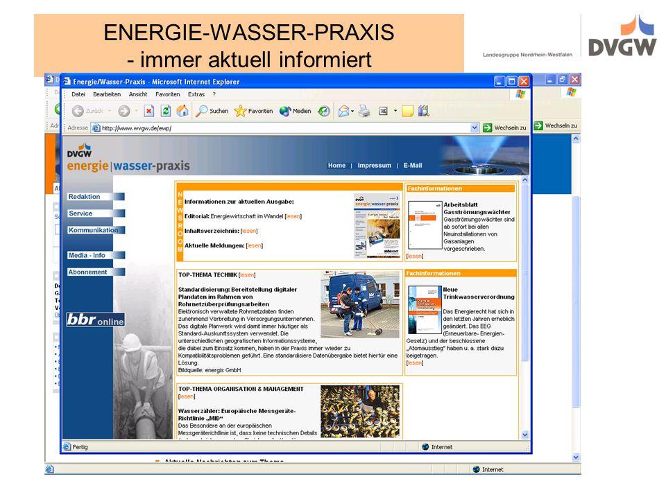 ENERGIE-WASSER-PRAXIS - immer aktuell informiert