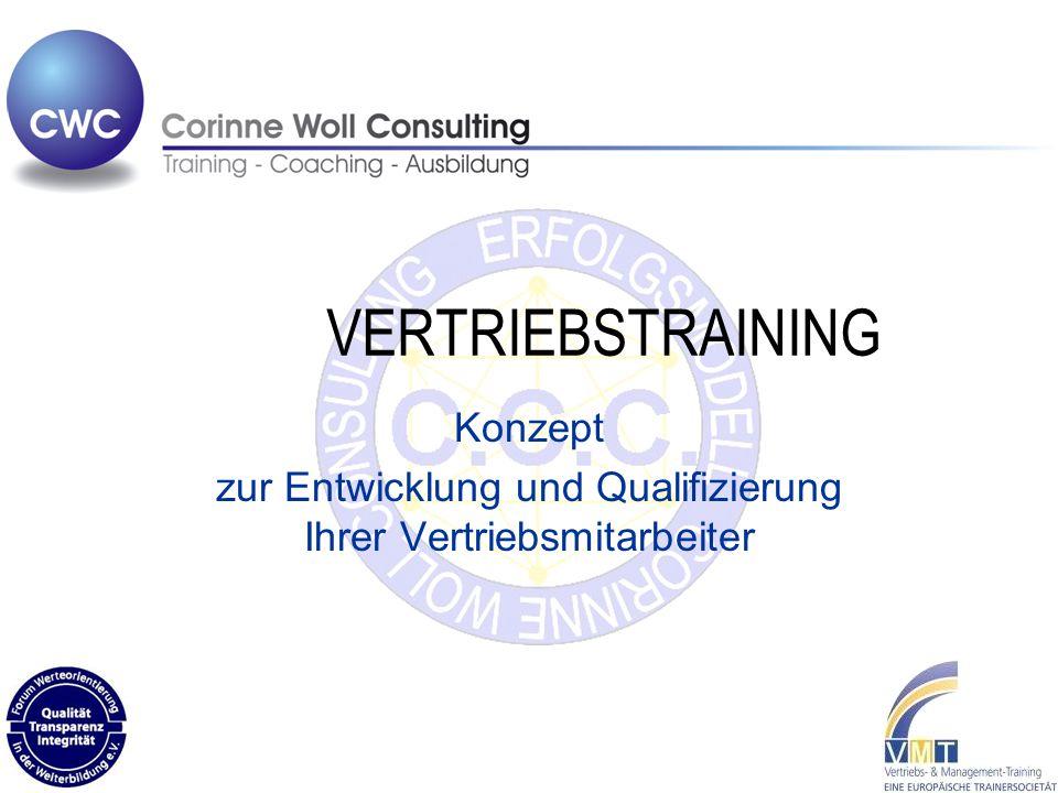 VERTRIEBSTRAINING Konzept zur Entwicklung und Qualifizierung Ihrer Vertriebsmitarbeiter
