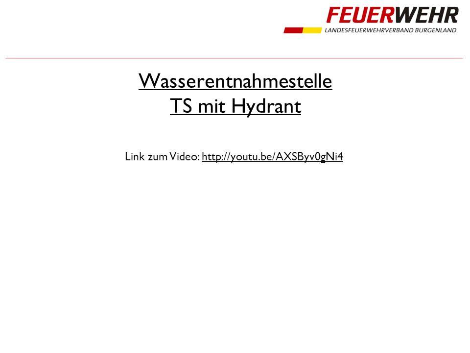 Wasserentnahmestelle TS mit Hydrant Link zum Video: http://youtu.be/AXSByv0gNi4http://youtu.be/AXSByv0gNi4
