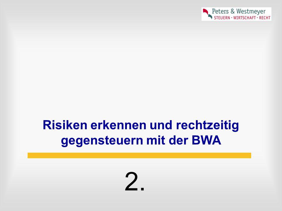 Risiken erkennen und rechtzeitig gegensteuern mit der BWA 2.