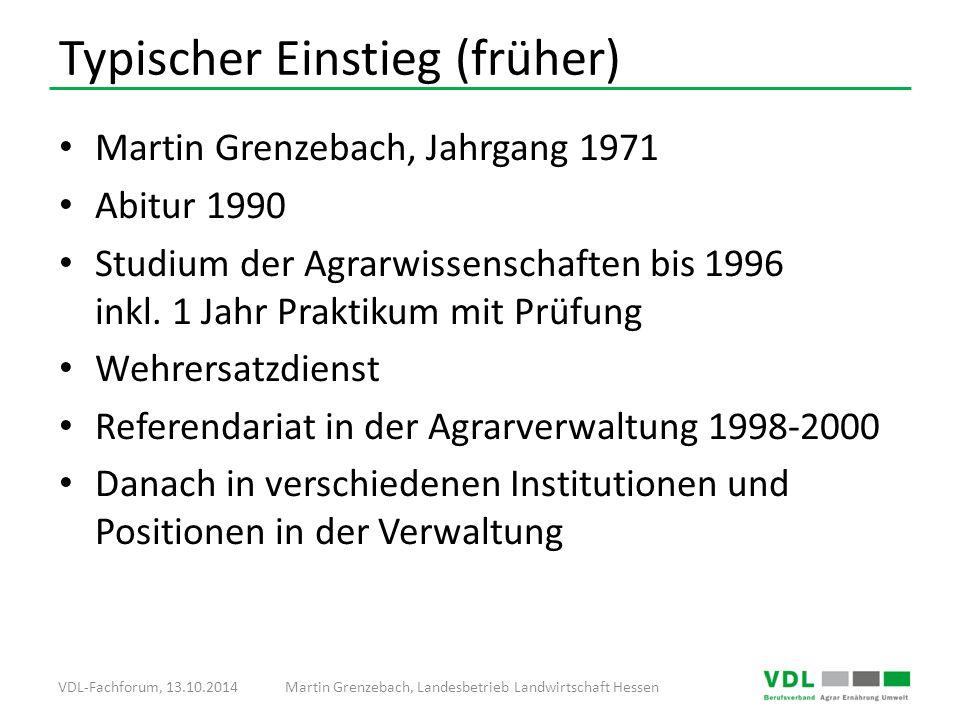 Martin Grenzebach, Jahrgang 1971 Abitur 1990 Studium der Agrarwissenschaften bis 1996 inkl.