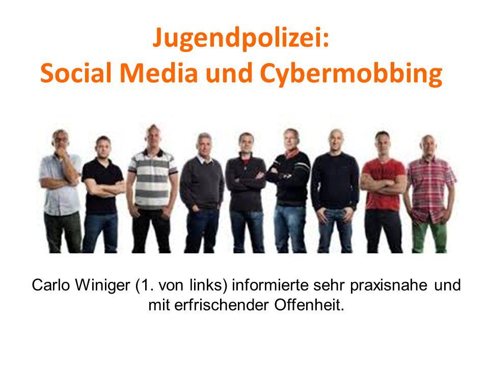 Jugendpolizei: Social Media und Cybermobbing Carlo Winiger (1. von links) informierte sehr praxisnahe und mit erfrischender Offenheit.