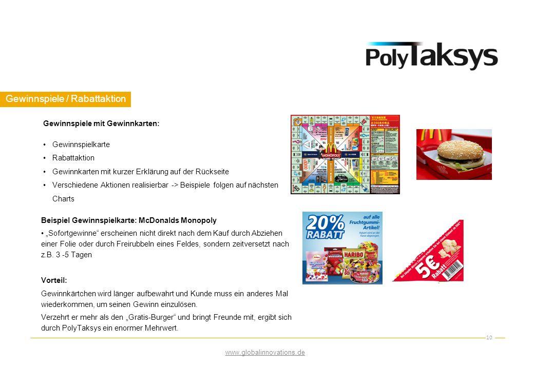 Gewinnspiele / Rabattaktion 10 Gewinnspiele mit Gewinnkarten: Gewinnspielkarte Rabattaktion Gewinnkarten mit kurzer Erklärung auf der Rückseite Versch