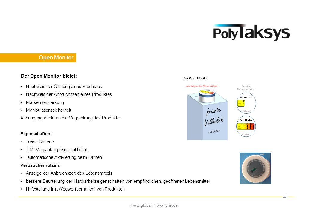 Open Monitor 21 Nachweis der Öffnung eines Produktes Nachweis der Anbruchszeit eines Produktes Markenverstärkung Manipulationssicherheit Anbringung di