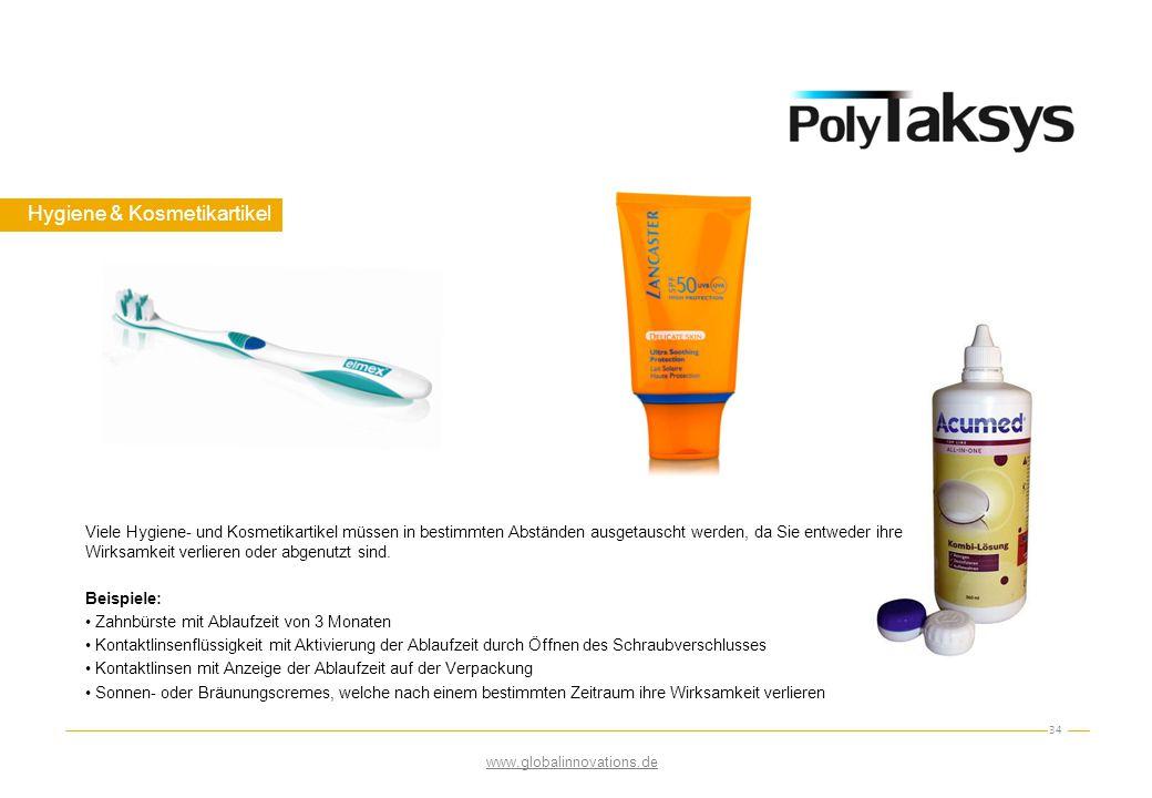 Hygiene & Kosmetikartikel 34 Viele Hygiene- und Kosmetikartikel müssen in bestimmten Abständen ausgetauscht werden, da Sie entweder ihre Wirksamkeit v