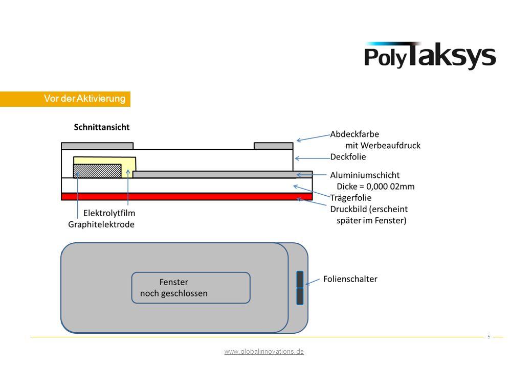 36 Es folgen allgemeine Informationen über den Entwicklungsstatus von PolyTaksys, Aktivierungsoptionen und Zukunftsaussichten.