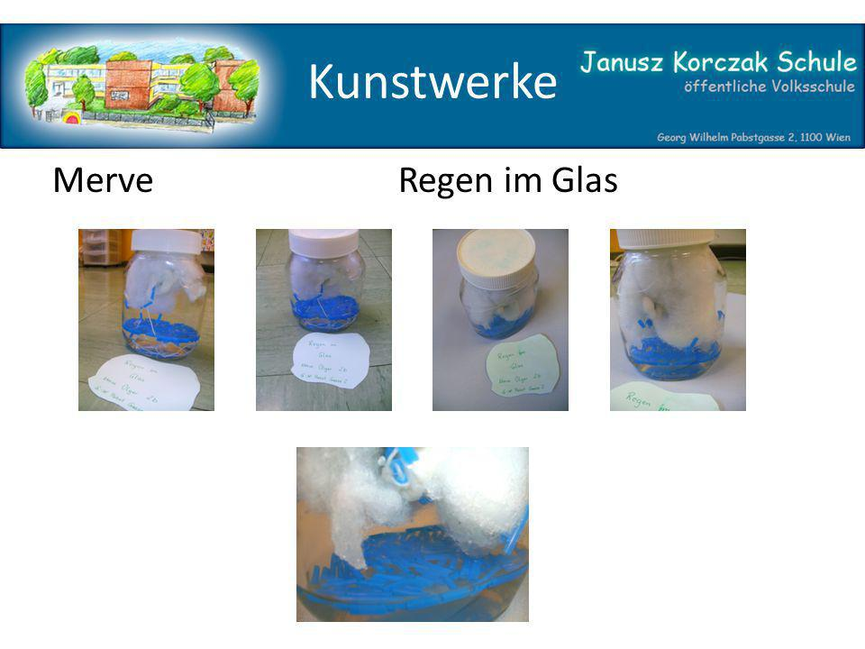 Kunstwerke MerveRegen im Glas