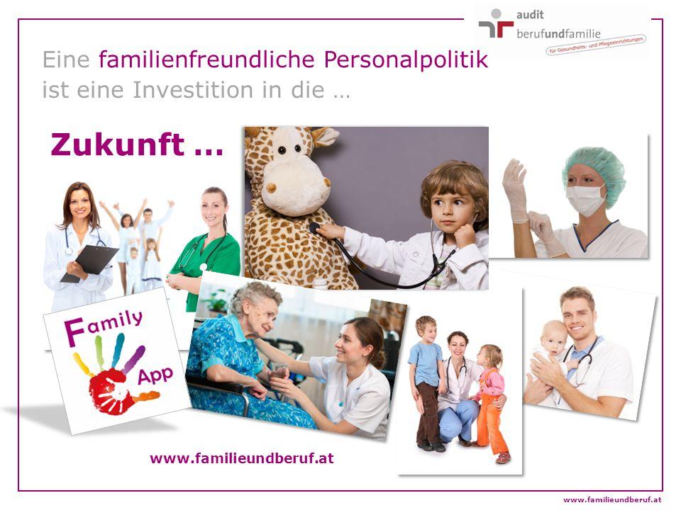 Eine familienfreundliche Personalpolitik ist eine Investition in die … www.familieundberuf.at Zukunft …