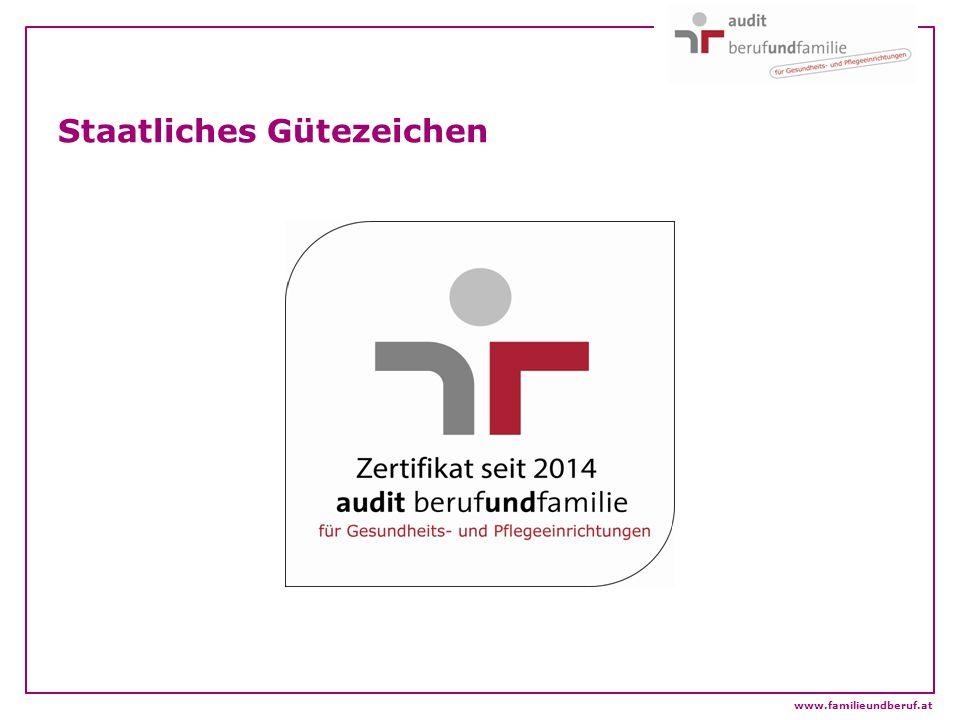 Staatliches Gütezeichen www.familieundberuf.at