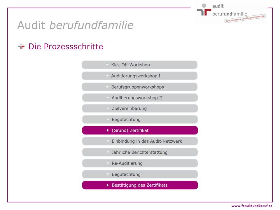 Audit berufundfamilie Die Prozessschritte www.familieundberuf.at