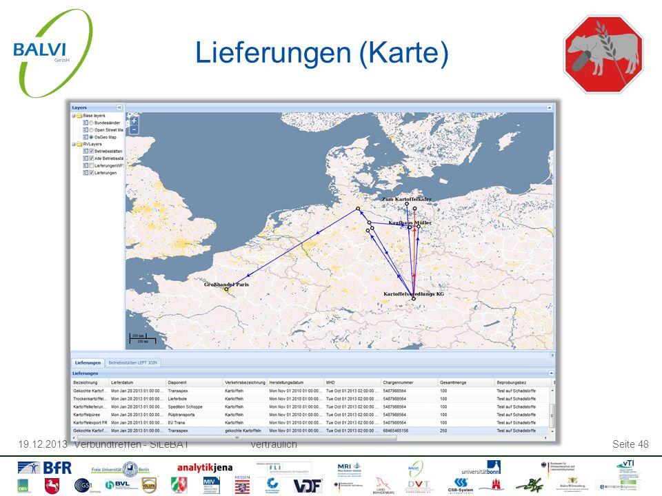 19.12.2013 Verbundtreffen - SiLeBATvertraulichSeite 48 Lieferungen (Karte)