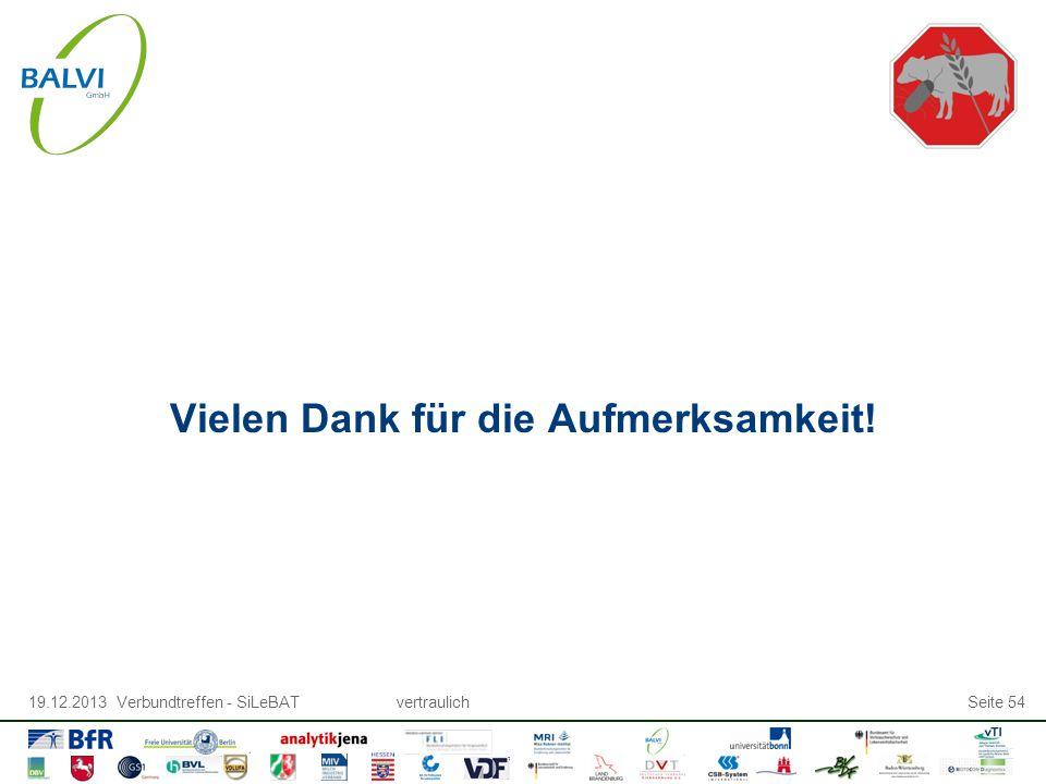 19.12.2013 Verbundtreffen - SiLeBATvertraulichSeite 54 Vielen Dank für die Aufmerksamkeit!