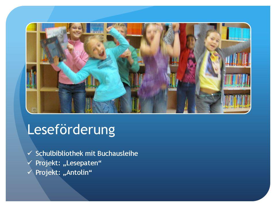 Unsere Schule steht für: Begabungs- und Interessensförderung Leseförderung Musikalische Förderung Frühförderung Englisch Natur und Technik Hochbegabtenförderung eLearning im Schulalltag Fördern sozialer Kompetenzen Miteinander lernen