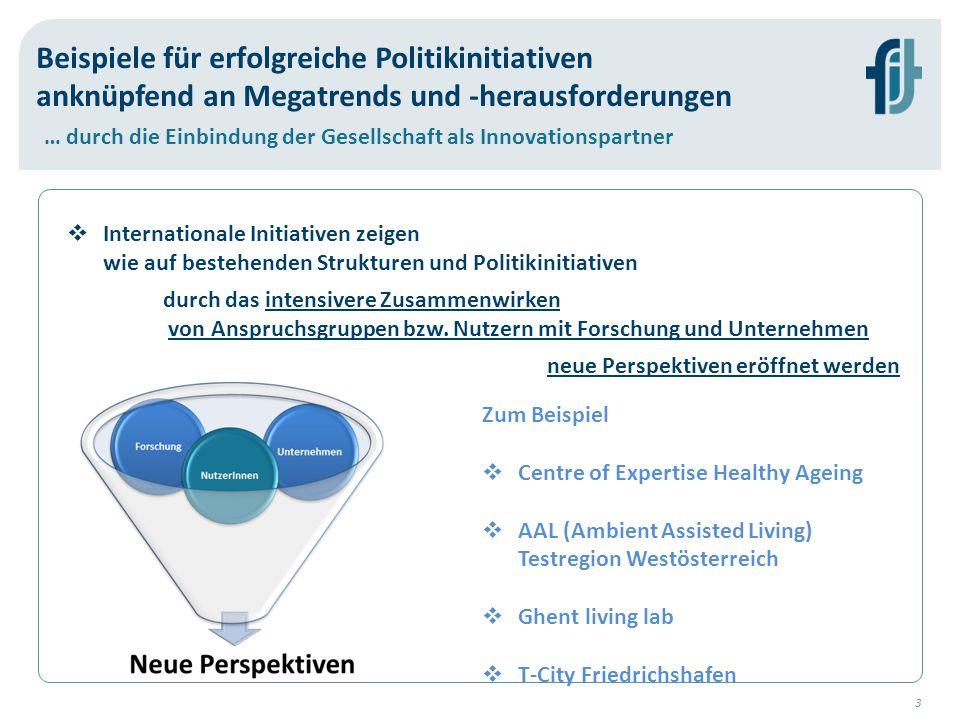 4 Herausforderungen erfordern Systeminnovation  Die mit den Megatrends einhergehenden wissenschaftlichen und technologischen Herausforderungen lassen sich nur sinnvoll im Kontext von Systeminnovationen adressieren (OECD, EC).