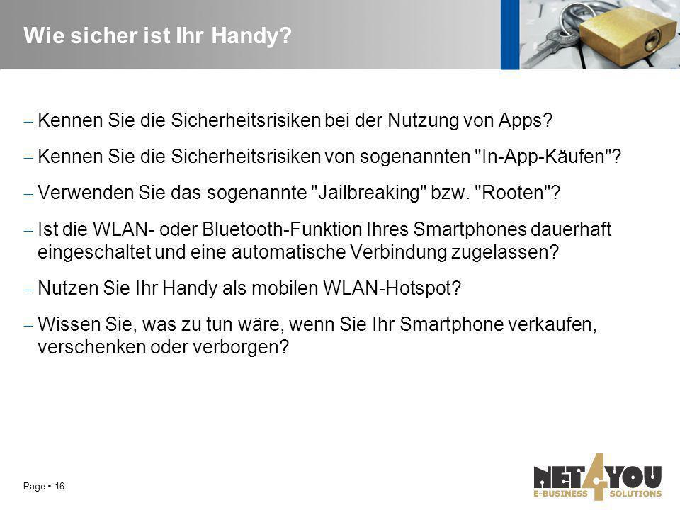 Wie sicher ist Ihr Handy?  Kennen Sie die Sicherheitsrisiken bei der Nutzung von Apps?  Kennen Sie die Sicherheitsrisiken von sogenannten