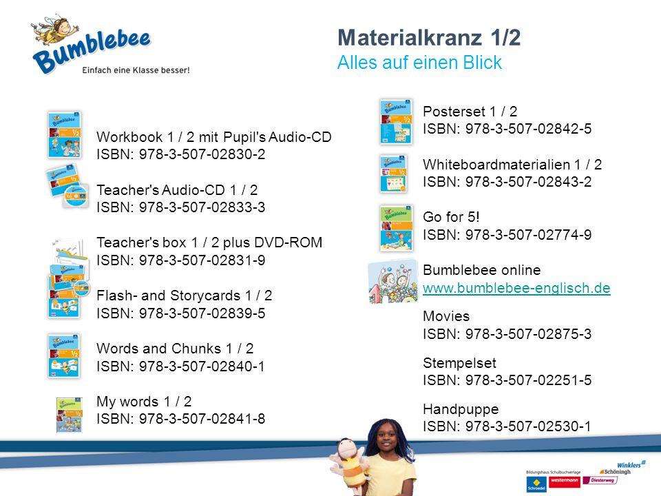 Materialkranz 1/2 Alles auf einen Blick Workbook 1 / 2 mit Pupil's Audio-CD ISBN: 978-3-507-02830-2 Teacher's Audio-CD 1 / 2 ISBN: 978-3-507-02833-3 T
