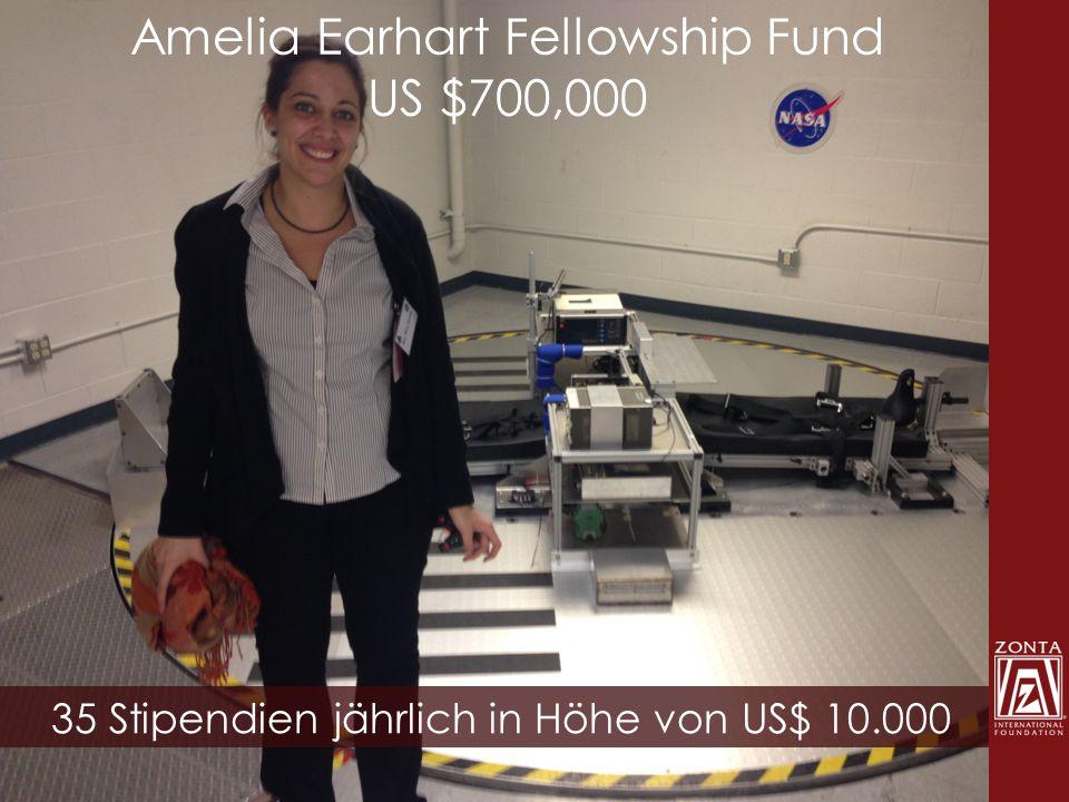 Amelia Earhart Fellowship Fund US $700,000 35 Stipendien jährlich in Höhe von US$ 10.000