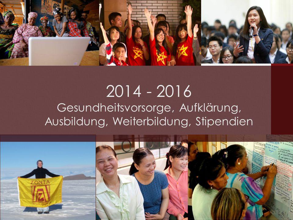 2014 - 2016 Gesundheitsvorsorge, Aufklärung, Ausbildung, Weiterbildung, Stipendien