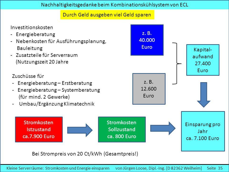 Nachhaltigkeitsgedanke beim Kombinationskühlsystem von ECL Kleine Serverräume: Stromkosten und Energie einsparen von Jürgen Loose, Dipl.-Ing. [D 82362
