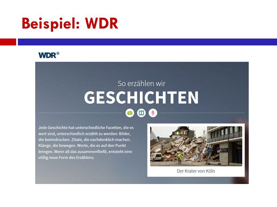 Beispiel: WDR