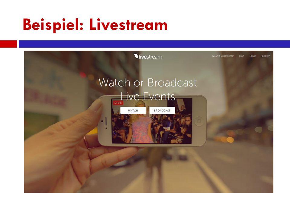 Beispiel: Livestream