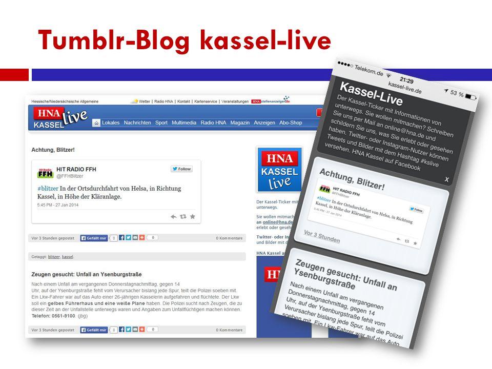 Tumblr-Blog kassel-live