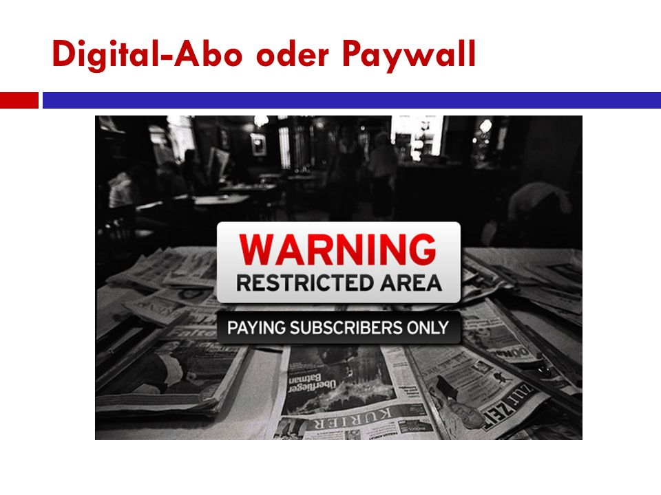 Digital-Abo oder Paywall
