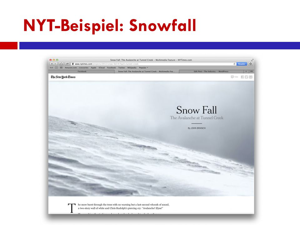NYT-Beispiel: Snowfall