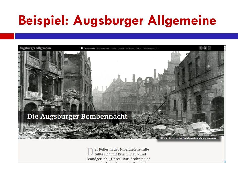 Beispiel: Augsburger Allgemeine