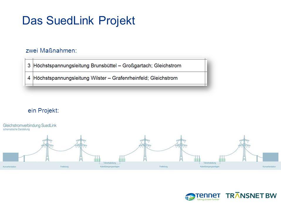 7 Das SuedLink Projekt zwei Maßnahmen: ein Projekt: