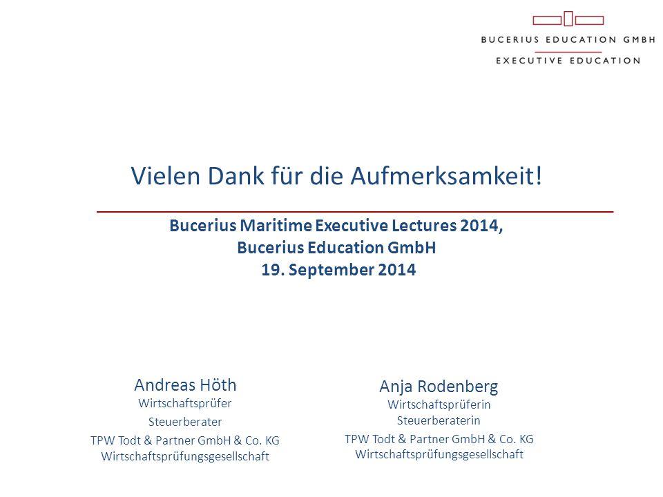 Anja Rodenberg Wirtschaftsprüferin Steuerberaterin TPW Todt & Partner GmbH & Co. KG Wirtschaftsprüfungsgesellschaft Vielen Dank für die Aufmerksamkeit