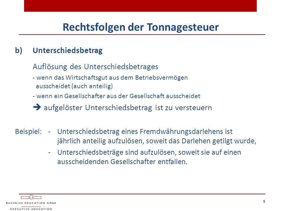 29 6) Internationale Aspekte Ausländischer Poolmanager Fall:Eine deutsche Schiffs-KG (Tanker) optiert zur Gewinnermittlung nach § 5 a EStG und schließt – statt eines Chartervertrages – einen Poolvertrag für das Schiff ab.