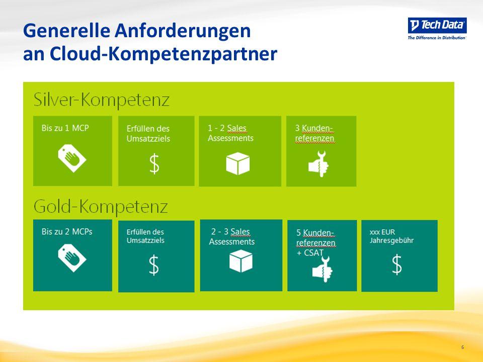 6 Generelle Anforderungen an Cloud-Kompetenzpartner