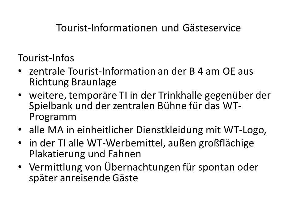 Tourist-Informationen und Gästeservice Tourist-Infos zentrale Tourist-Information an der B 4 am OE aus Richtung Braunlage weitere, temporäre TI in der