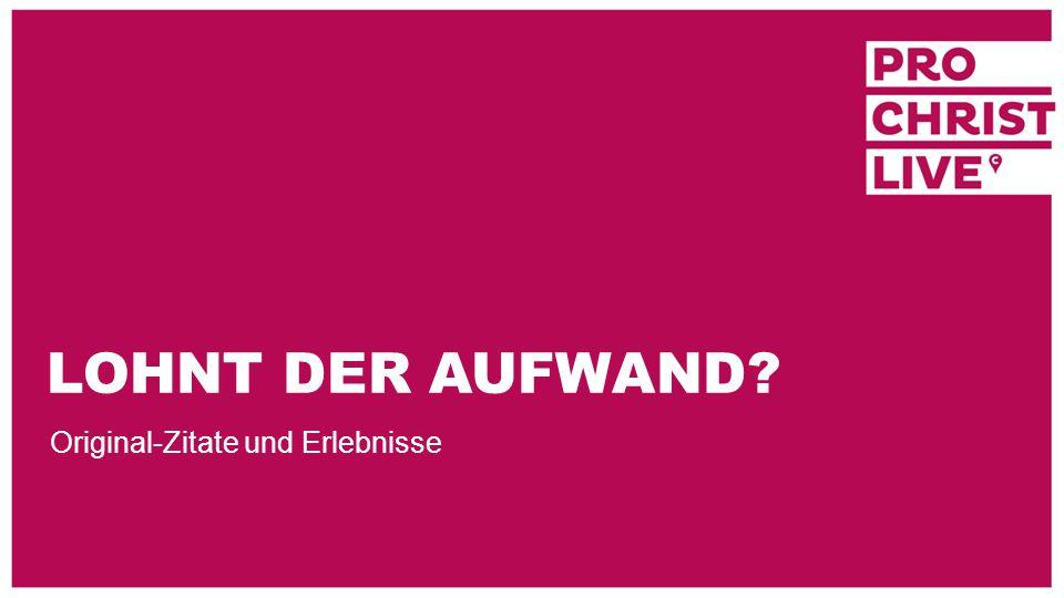 PROCHRIST LIVE 2015 In Ihrer Region und an bis zu 400 Orten in Deutschland und Europa Ihr Wahltermin (5-7 Abende) im Aktionszeitraum: 03.10.